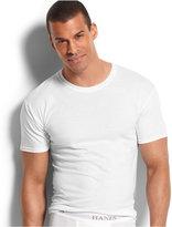 Hanes Platinum Men's Underwear, Slim Fit Crew Neck T-Shirt 5 Pack