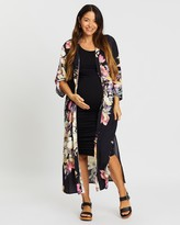 Angel Maternity Maternity Bodycon Dress & Long Cardigan Outfit
