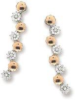 Tatitoto Daisies Women's Earrings in 18k Gold with Diamond H/SI (total diamonds 0.35 ct), 8.1 Grams