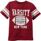 Carter's Short-Sleeve Red Football Slogan Knit Tee - Boys 4-8