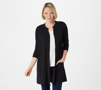 Susan Graver Every Day by Liquid Knit Button Front Duster