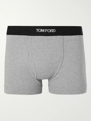Tom Ford Stretch-Cotton Boxer Briefs - Men - Gray