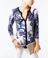 INC International Concepts Printed Zipper Top, Created for Macy's