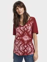 Scotch & Soda Two-Tone Print T-Shirt | Women