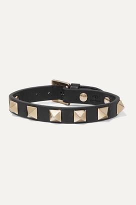 Valentino Garavani The Rockstud Leather Bracelet - Black