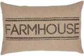 Vhc Brands Sawyer Mill Charcoal Farmhouse Pillow 14x22