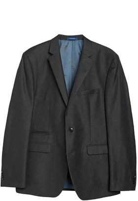 Vince Camuto Charcoal Solid Two Button Notch Lapel Slim Fit Suit Separates Jacket