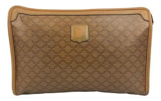 Celine Beige Cloth Travel bags