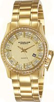 Stuhrling Original Women's Quartz Watch with Gold Dial Analogue Display and Gold Stainless Steel Bracelet 910.02