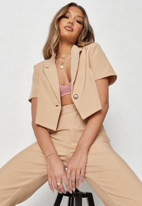 Missguided Co Ord Tailored Cropped Blazer