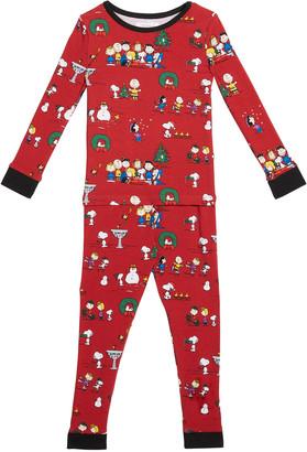Bedhead Pajamas Kid's Peanuts Winter Fun 2-Piece Pajama Set, Size 3-18M
