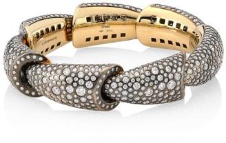 Palladium Calla 18K White Gold Palladium, Titanium & Diamond 7-Element Cuff Bracelet