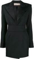 Alexandre Vauthier crystal embellished button dress