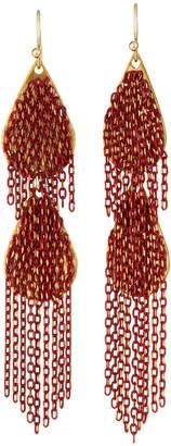 Nakamol Double-Disc Chain Dangle Earrings