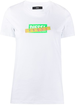 Diesel iridescent tape logo T-shirt