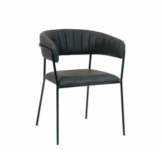 Upholstered Arm Chair in Black (Set of 2) ERF, Inc.