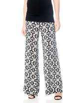 A Pea in the Pod Pull On Style Challis Wide Leg Maternity Pants