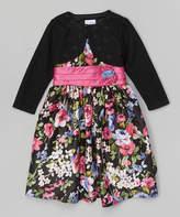 Jayne Copeland Pink & Lavender Floral Dress & Bolero - Toddler & Girls