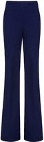 Diane von Furstenberg Nicola Textured Cotton Slub Wide Leg Pant