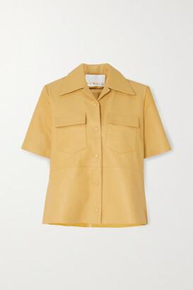 REMAIN Birger Christensen Siena Leather Shirt - Pastel yellow