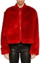 Giamba Cropped Furry Jacket