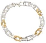 Gurhan Silver & Gold Rectangle Chain Bracelet