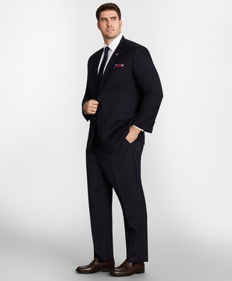 Brooks Brothers Big & Tall Stretch Wool Two-Button 1818 Suit