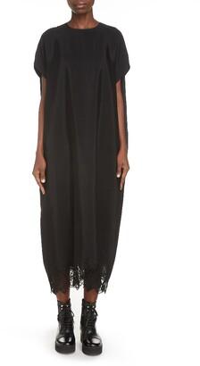 Y's by Yohji Yamamoto Lace Hem Shift Dress