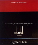 Dunhill 1 x PACKET OF 9 Ã' LIGHTER FLINTS (RED) ROLLAGAS NEW by