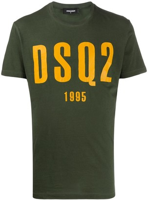 DSQUARED2 logo printed fitted T-shirt