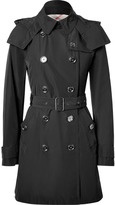Burberry Black Double-Breasted Balmoral Trench Coat with Hood