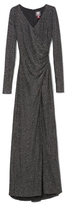 Vince Camuto Shirred Metallic Knit Gown