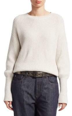 Brunello Cucinelli Cashmere& Silk Ribbed Sweater