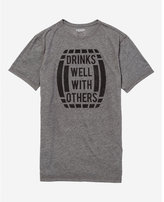 Express drinks well with others graphic tee