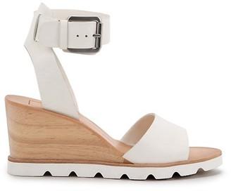 Dolce Vita Melika Leather Wood Wedge Sandals