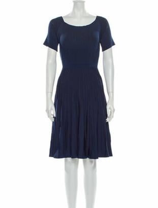 Jason Wu Collection Scoop Neck Knee-Length Dress Blue