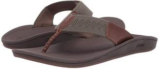 OluKai Nohona Ulana (Black/Black) Men's Sandals