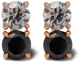 Raphaele Canot 18kt rose gold Confetti diamond studs