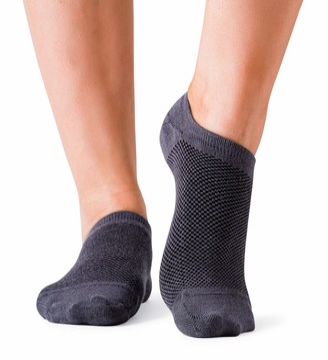 Bambu Bam&bu Women's Premium Bamboo No Show Socks - 4 pairs - Non-Slip 5-8