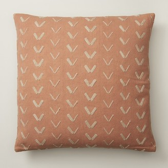 "Indigo Spur Pattern Pecan Brown Pillow Cover 18"" X 18"""