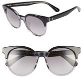 Kate Spade Women's Abianne 51Mm Round Sunglasses - Black/ Grey
