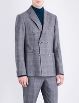 Tiger of Sweden Checked slim-fit wool jacket