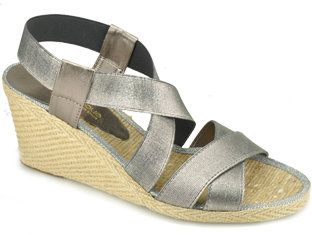 Andre Assous Dalmira - Pewter Wedge Espadrille