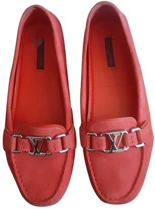 Louis Vuitton Red Leather Flats