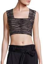 A.L.C. Women's Ali Striped Cropped Top