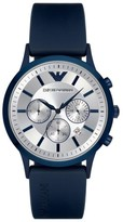 Emporio Armani Chronograph Rubber Strap Watch, 43Mm