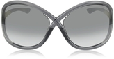 Tom Ford WHITNEY FT009 B5 Oversized Soft Round Sunglasses
