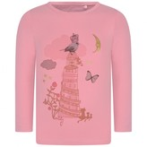 Oilily OililyPink Fairy Tale Print Long Sleeve Tip Top