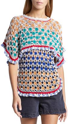 Isabel Marant Short-Sleeve Crewneck Sweater
