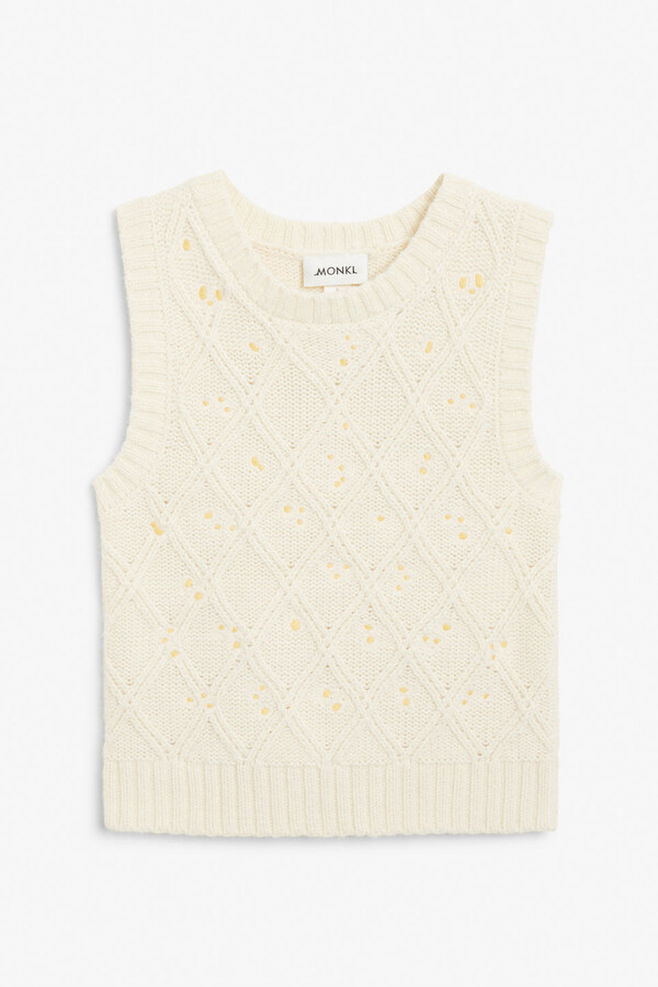 Thumbnail for your product : Monki Embroidered knit vest
